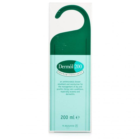 Dermol 200 Shower Emollient (200ml Bottle)