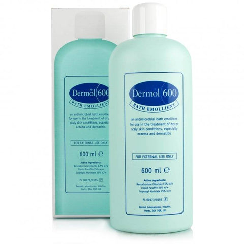 Dermol 600 Bath Emollient (600ml Bottle)