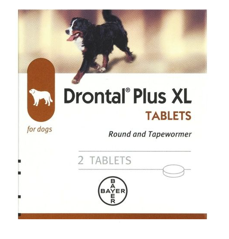 Drontal Plus XL Tablets For Dogs (2 Tablets)