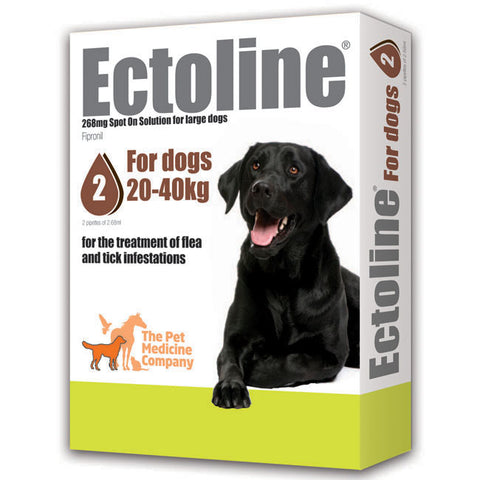 Ectoline Spot On for LARGE DOGS 20-40kg (2 Pipettes)