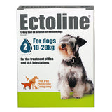 Ectoline Spot On for MEDIUM DOGS 10-20kg (2 Pipettes)