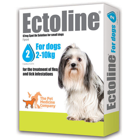 Ectoline Spot On for SMALL DOGS 2-10kg (2 Pipettes)