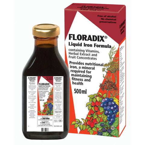 Floradix Liquid Iron Formula (500ml Bottle)
