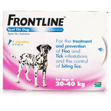 FRONTLINE Spot On for LARGE DOGS: 20-40Kg (6 Pipettes)