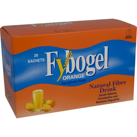 Fybogel Orange Flavoured Natural Fibre Sachets (30 Sachets)
