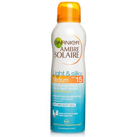 Garnier Ambre Solaire Light & Silky Mist SPF15 (150ml)