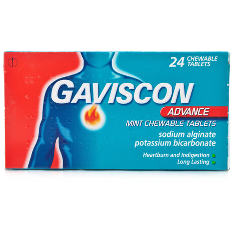 Gaviscon Advance Mint Chewable Tablets (24 Tablets)