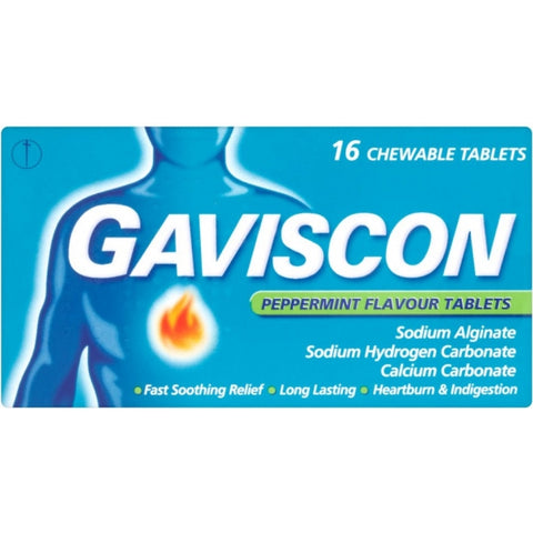 Gaviscon Peppermint Flavoured Tablets (16 Tablets)