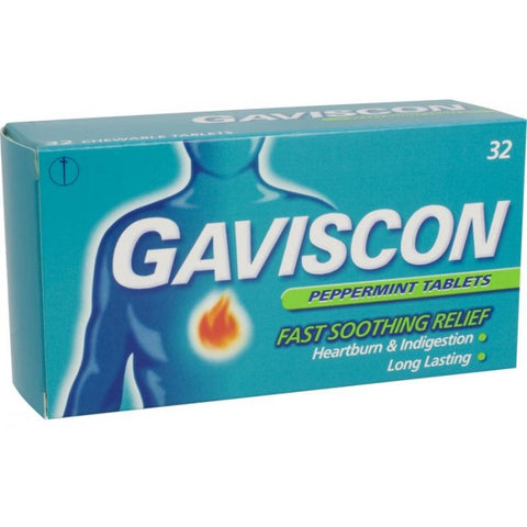 Gaviscon Peppermint Flavoured Tablets (32 Tablets)