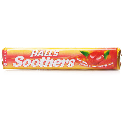 Halls Soothers Peach & Raspberry (10 lozenges)