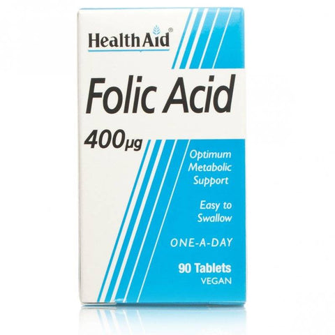 HealthAid Folic Acid 400ug (90 Tablets)