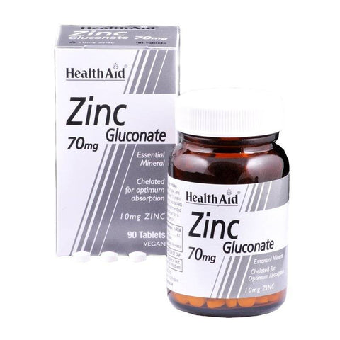 HealthAid Zinc Gluconate 70mg (90 Tablets)