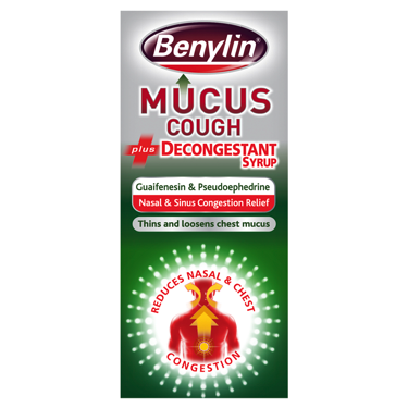 Benylin Mucus Cough Decongestant Syrup (100ml)