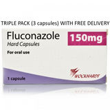 3 x Fluconazole Capsules For Thrush Treatment FREE DELIVERY (3 Capsules)