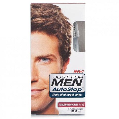 Just For Men Autostop Hair Colour - A-35 Medium Brown (35g)