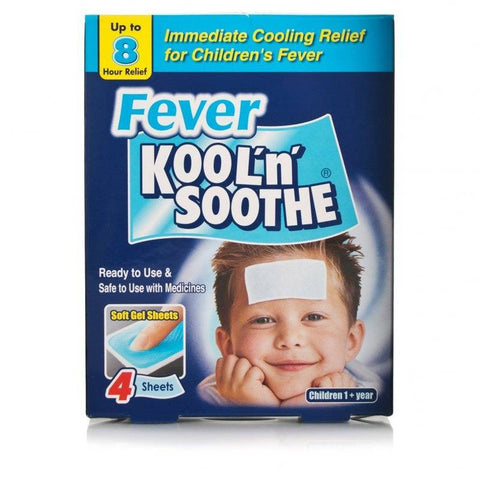 Kool 'n' Soothe Children's Fever Sheets (4 Sheets)