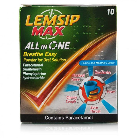 Lemsip Max All In One Breathe Easy (10 sachets)
