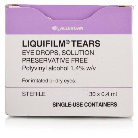Liquifilm Tears Eye Drops Preservative Free Single Dose Units (30 x 0.4ml)