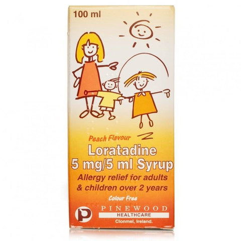 Loratadine Syrup 5mg/5ml Clarityn Alternative (100ml Bottle)