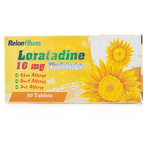 Loratadine Non Drowsy Hay-Fever/Allergy Relief Tablets 10mg (30 Tablets)