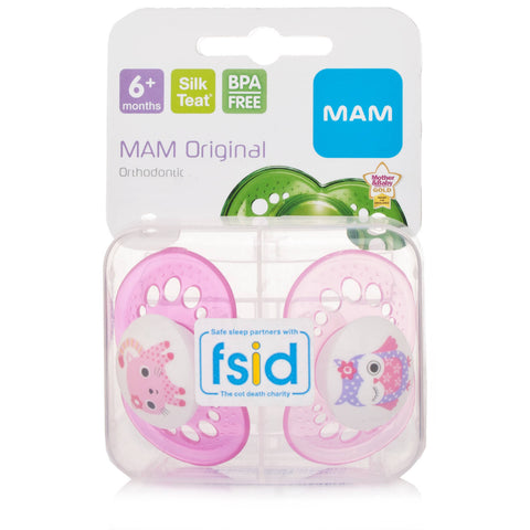 Mam Original 6+ Month Soother Pink