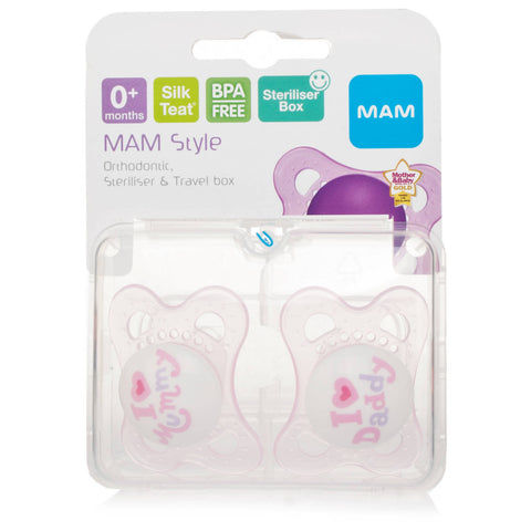 Mam Style 0+ Month Soother Pink