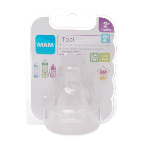 Mam Teat 2 Medium Flow (2 Pack)