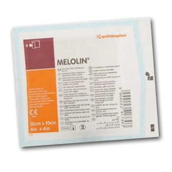5 x Melolin Low Adherent Absorbent Sterile Dressings 10cm x 10cm FREE DELIVERY (5 Dressings)