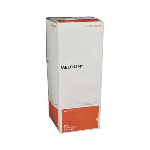 Melolin Low Adherent Absorbent Sterile Dressings 5cm x 5cm (100 Dressings)