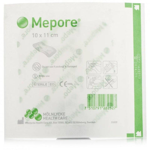 Mepore Self-Adhesive Absorbent Dressing 10cm x 11cm (1 Dressing)