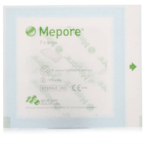 Mepore Self-Adhesive Absorbent Dressing 7cm x 8cm (1 Dressing)