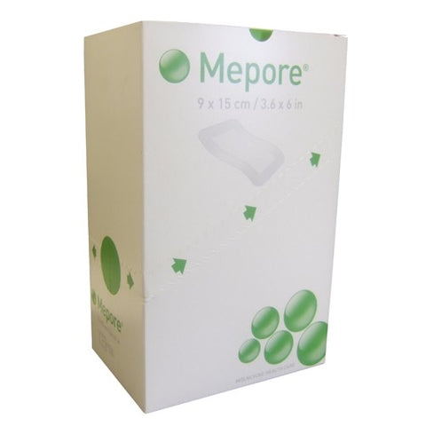 Mepore Self-Adhesive Absorbent Dressing 9cm x 15cm (50 Dressings)