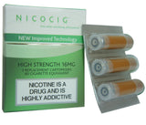 Nicocig Cartridges Tobacco Flavour HIGH Nicotine Strength 16mg (3 Cartridges)