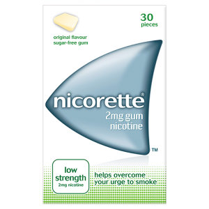 Nicorette Gum 2mg Original (30 Pieces)