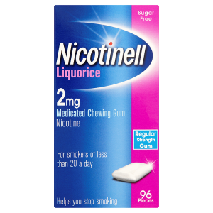 Nicotinell Gum 2mg Liquorice (96 Pieces)