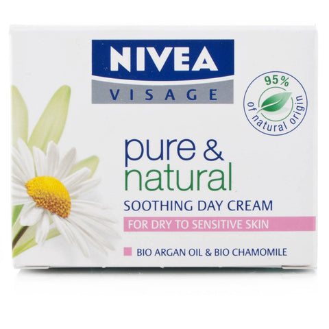 Nivea Visage Pure & Natural Day Cream For Dry/ Sensitive Skin (50ml)