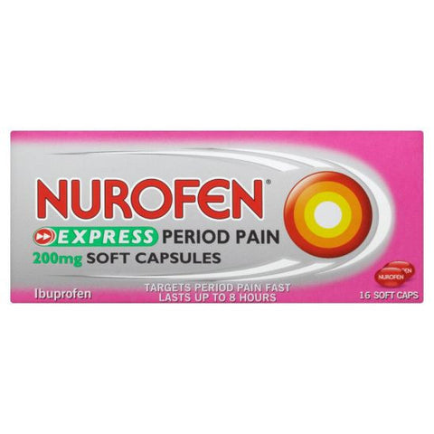Nurofen Express Period Pain 200mg (16 Capsules)