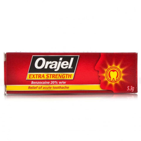 Orajel Extra Strength Dental Gel (5.3g Tube)