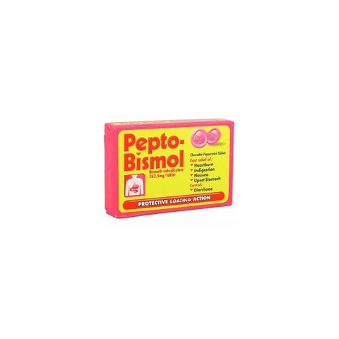Pepto-Bismol Chewable Tablets (24 Tablets)