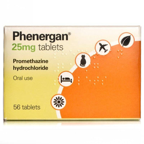Phenergan Tablets 25mg FREE DELIVERY (56 Tablets)