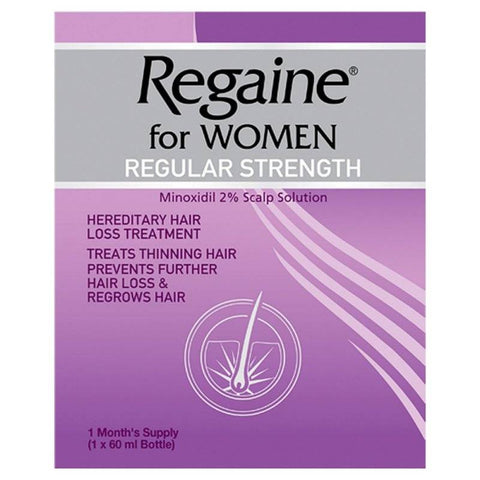 Regaine for Women Regular Strength Scalp Solution (3 months supply - 3x60ml Bottle)
