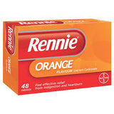 Rennie Orange Chewable Tablets (48 Tablets)