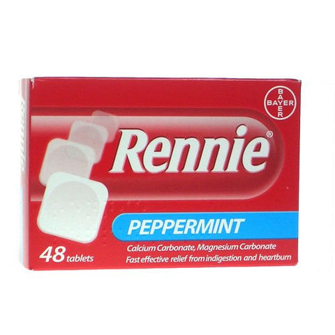 Rennie Peppermint Tablets (48 Tablets)