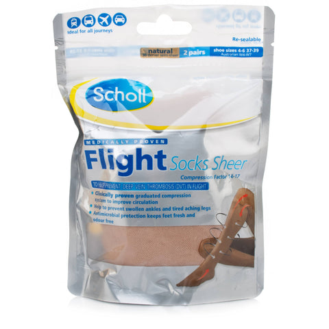 Scholl Sheer Flight Socks 2 pairs (4 - 6)
