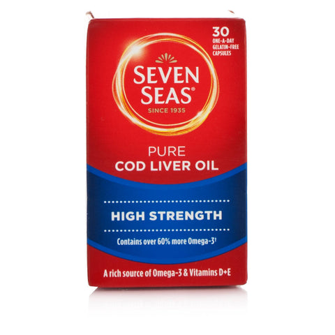 Seven Seas High Strength Pure Cod Liver Oil With Omega 3 Capsules (30 Capsules)