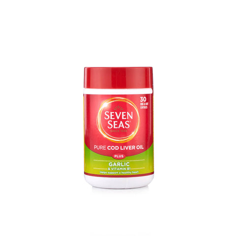 Seven Seas One A Day Pure Cod Liver Oil Plus Garlic (30 Capsules)
