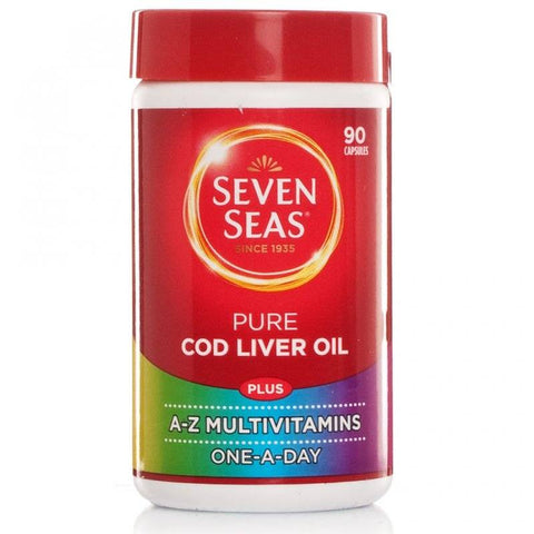 Seven Seas One-A-Day Cod Liver Oil Plus Multivitamins (90 Capsules)