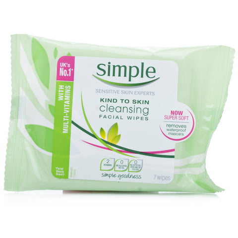 Simple Cleansing Facial Wipes (7 Wipes)