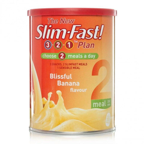 Slim Fast Blissful Banana Milkshake Powder (438g)