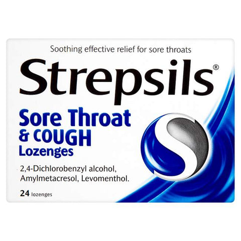 Strepsils Sore Throat and Cough Lozenges (24 Lozenges)